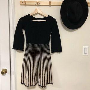 French Connection black crochet knit dress size 0